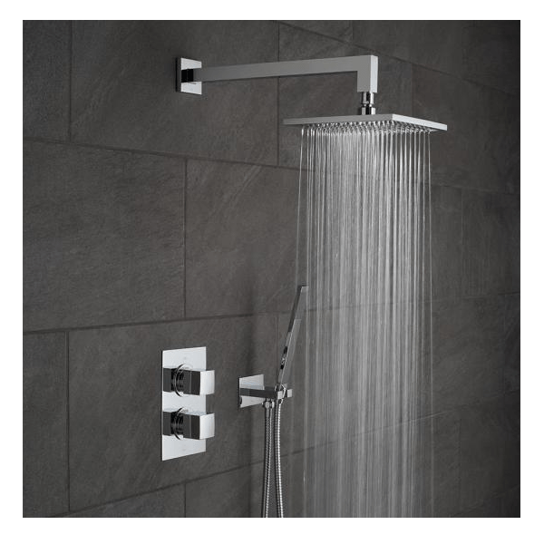 Vado Mix 2 Outlet Shower Valve With Fixed Head & Shower Kit-21354
