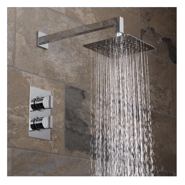 Vado Notion Single Outlet Shower Valve With Square Fixed Head-21486