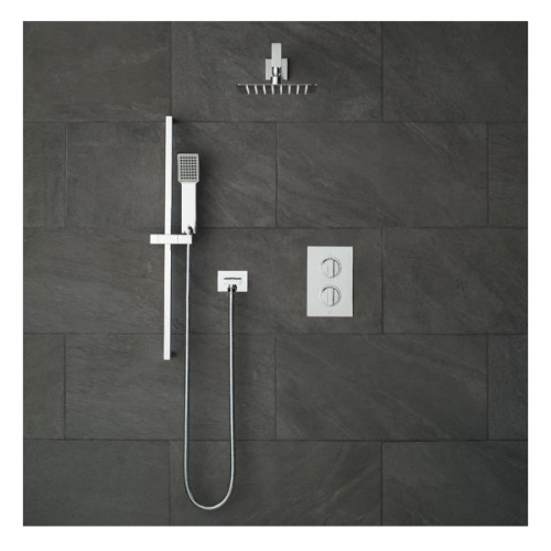 Vado Notion 2 Outlet Shower Valve With Fixed Head & Shower Kit-21401