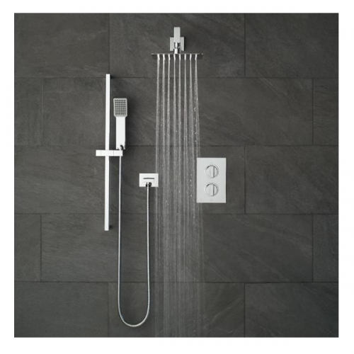 Vado Notion 2 Outlet Shower Valve With Fixed Head & Shower Kit-0