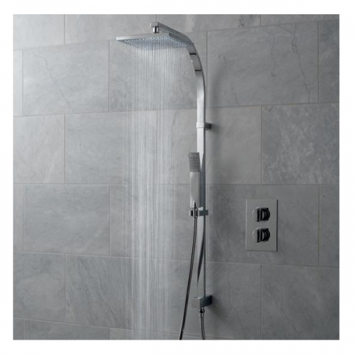 Vado Notion Concealed Thermostatic Rigid Riser Shower Kit-0