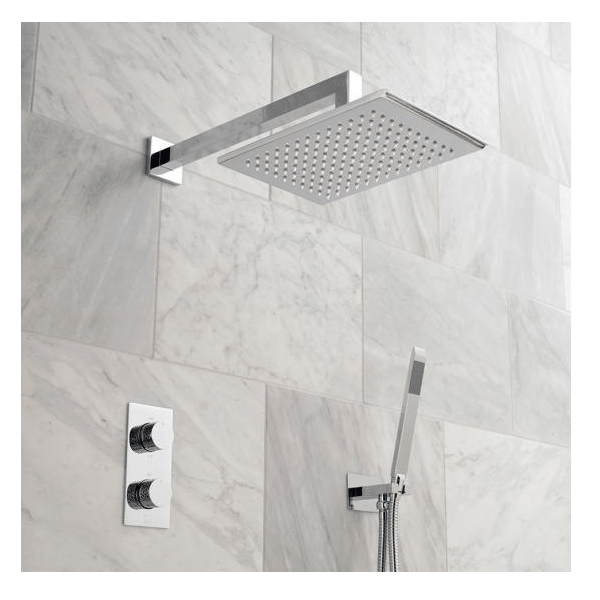 Vado Omika 2 Outlet Shower Valve With Fixed Head And Shower Kit-0