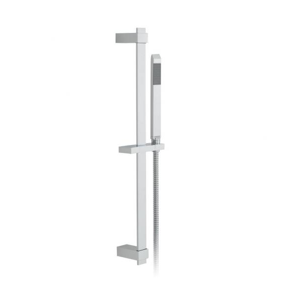 Vado omika 600mm slide rail shower kit with single-function handset-0