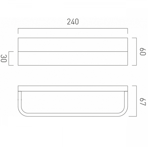 Vado Omika Chrome Wall Mounted 240mm Towel Bar-20965