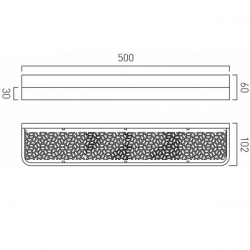 Vado Omika Chrome Wall Mounted 500mm Bathroom Shelf-20985