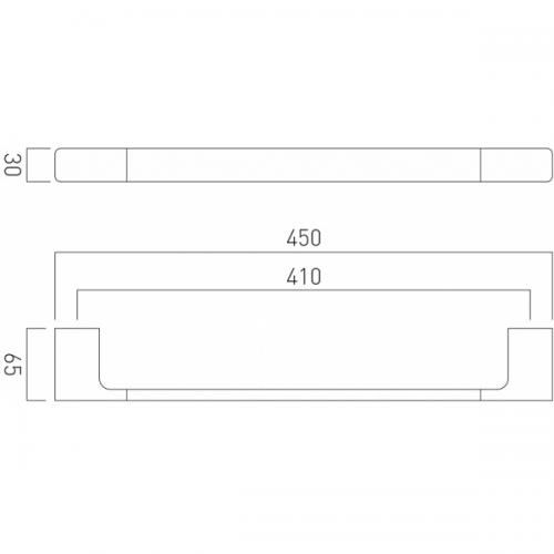 Vado Shama Wall Mounted Chrome 450mm Single Towel Rail-21121
