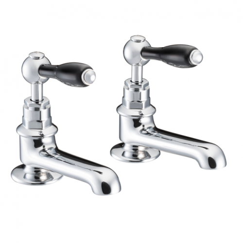 St James Collection Black London Lever Basin Taps SJ150-CP-LLBK