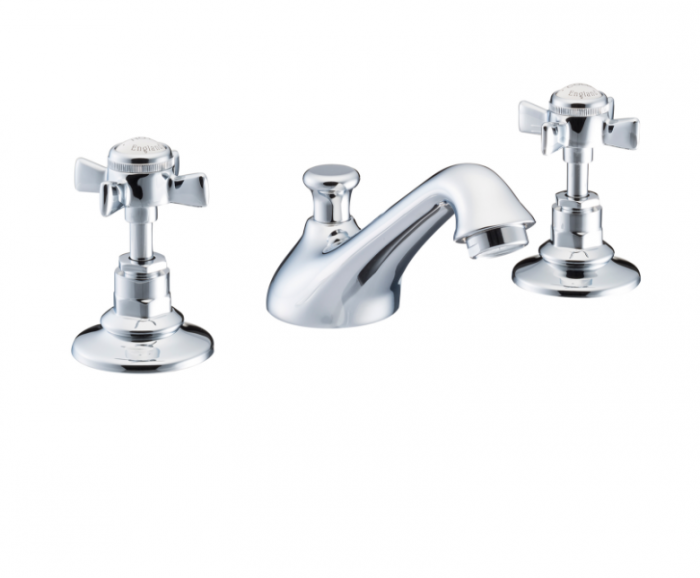 St James Collection English Handle Three Hole Basin MIxer SJ400-CP-EH