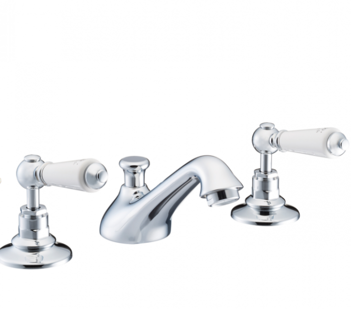 St James Collection London Lever Three Hole Basin MIxer SJ400-CP-LL