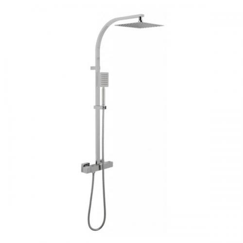 Vado Velo Aquablade Concealed Thermostatic Rigid Riser Shower Kit-0