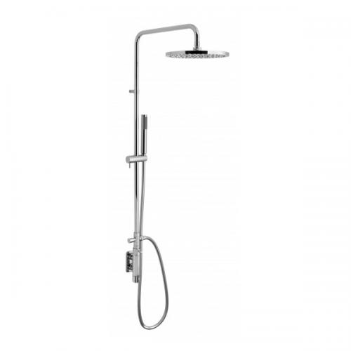 Vado Vertix Round Thermostatic Rigid Riser Shower Kit-0