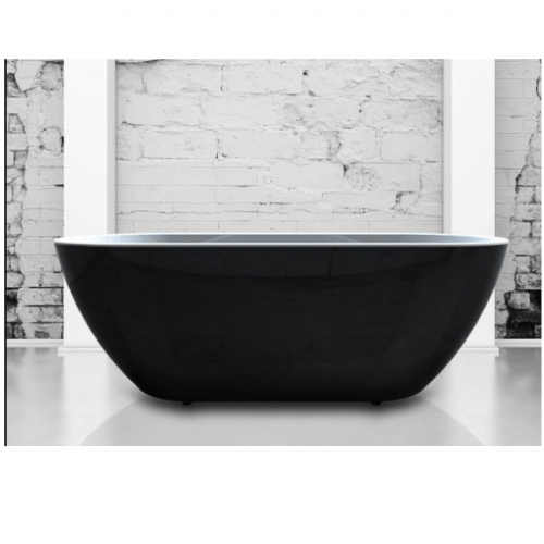 Charlotte Edwards Belgravia Black 1500x670mm Freestanding Bath-0