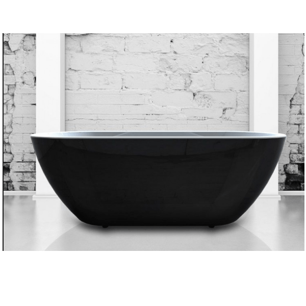 Charlotte Edwards Belgravia Black 1500x670mm Freestanding Bath-0