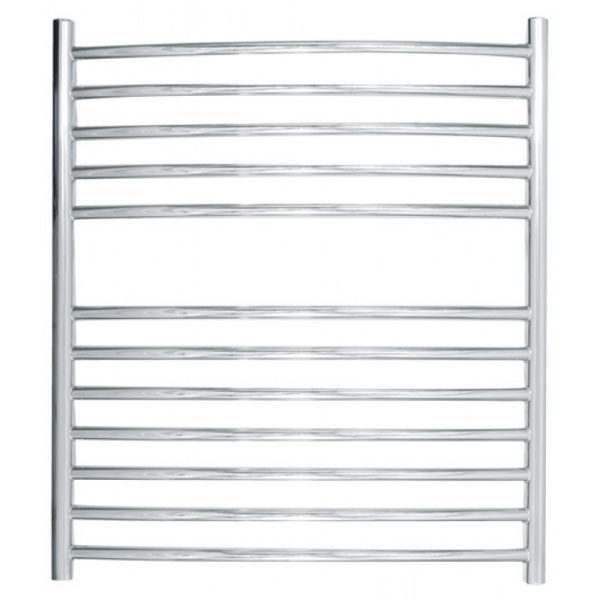 JIS Camber Curved Stainless Steel 700x620 Heated Towel Rail-0
