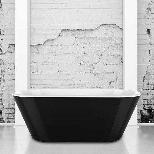 Charlotte Edwards Grosvenor Black 1650 Freestanding Bath-0