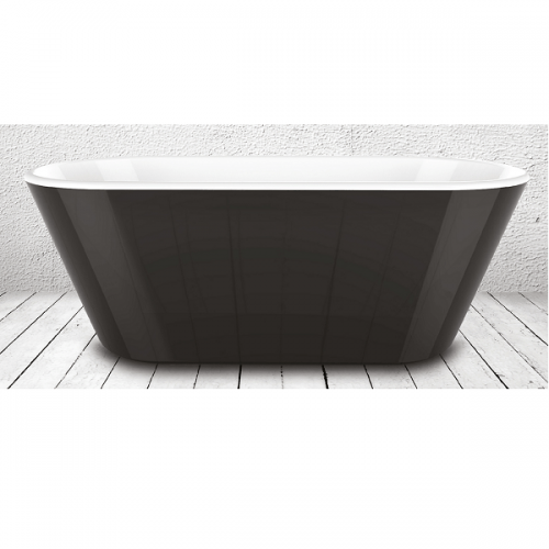 Charlotte Edwards Grosvenor Black 1650 Freestanding Bath-22099