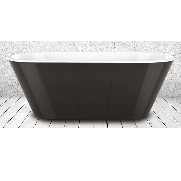 Charlotte Edwards Grosvenor Black 1650 Freestanding Bath-22099