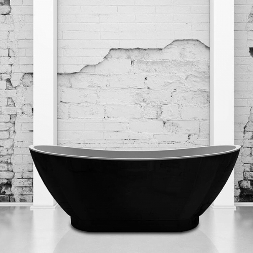 Charlotte Edwards Richmond Black 1760mm Freestanding Bath-0
