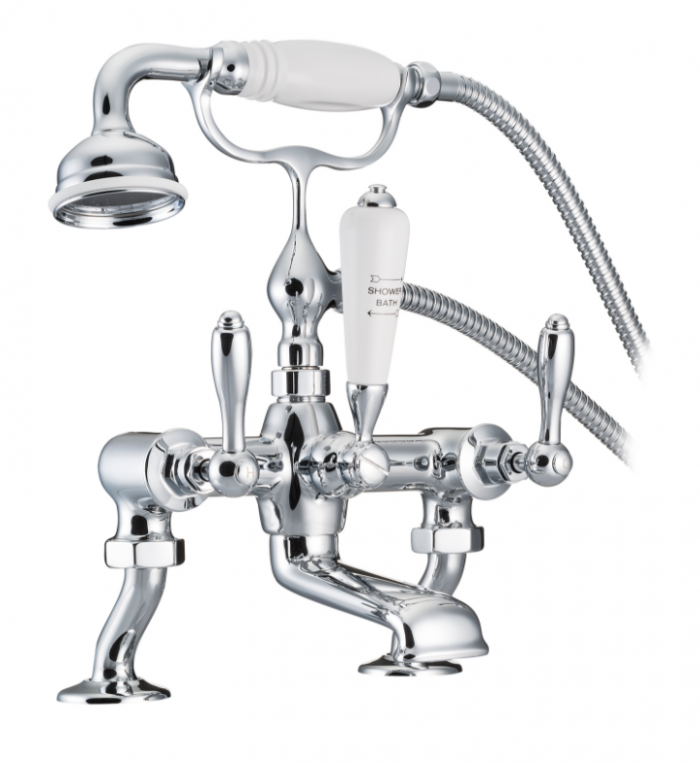St James Collection England Lever Bath Mixer with Cranked Legs