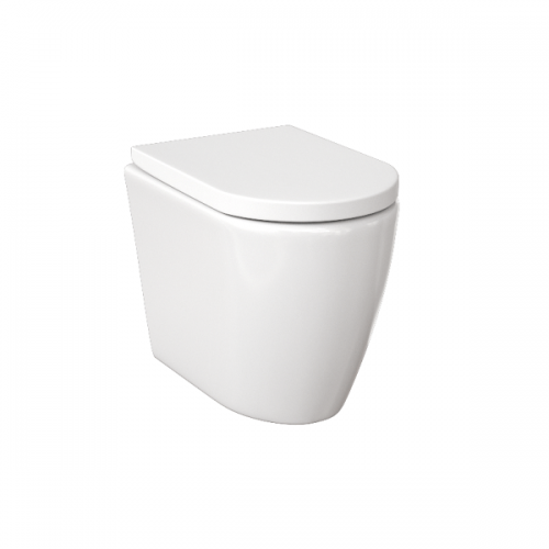 Saneux Uni Back To Wall WC Pan and Soft Close Seat-0