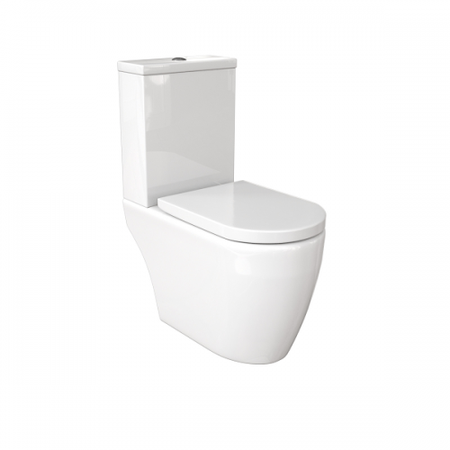 Saneux Uni Open Back Close Coupled WC With Soft Close Seat-0