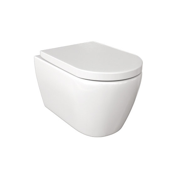 Saneux Uni Wall Hung 517mm Rimless WC Pan and Seat-0