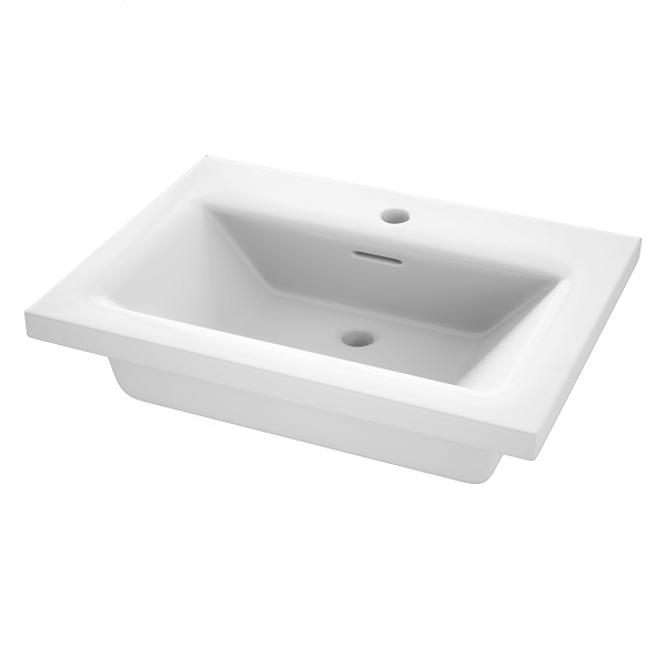 Saneux Uni Matt White Wall Mounted Handless 60cm Unit-22235