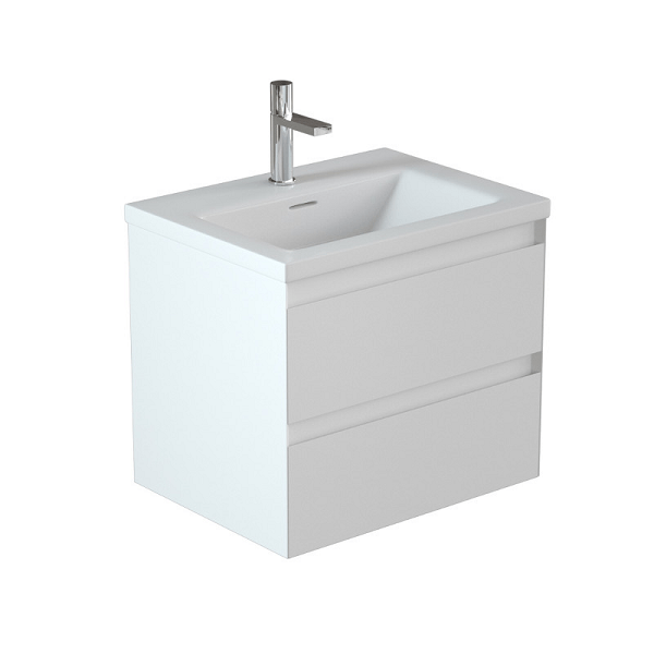 Saneux Uni Matt White Wall Mounted Handless 60cm Unit-0