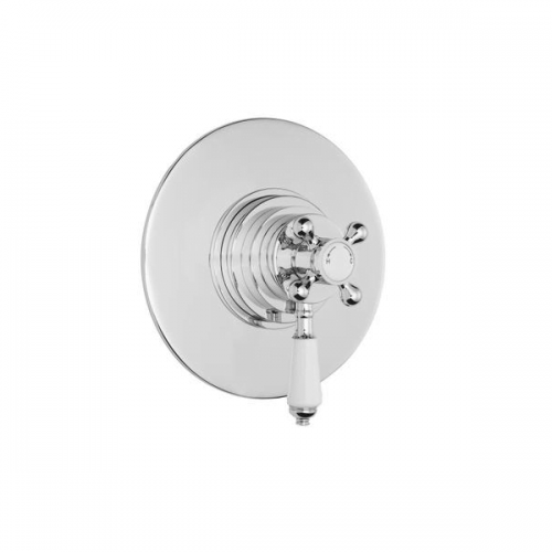 Premier Victorian Dual Thermostatic Round Shower Valve-0