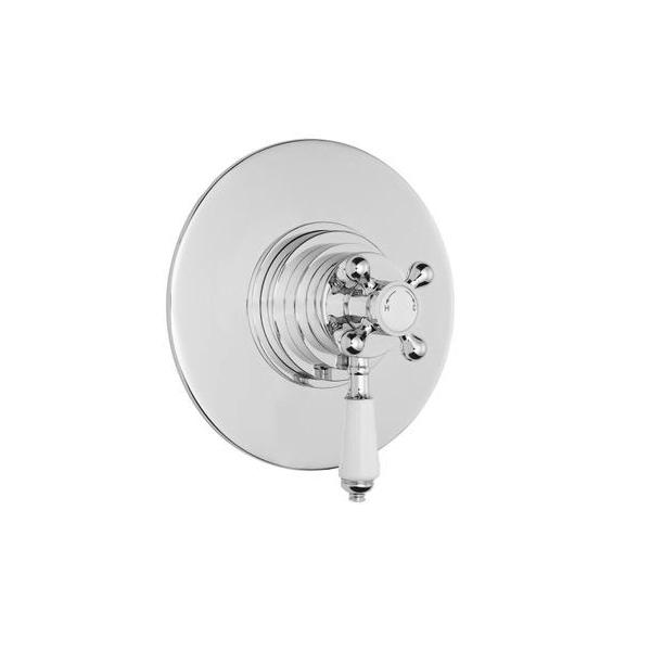 Premier Victorian Dual Thermostatic Round Shower Valve-0