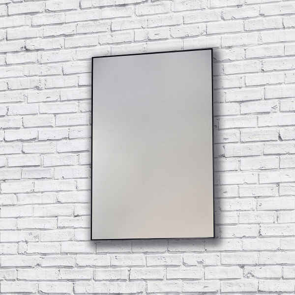 Bathroom Origins Metro Slimline 600mm Black Framed Mirror
