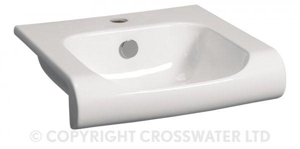 Crosswater Essence Vanity Basin 400 With Overflow ES0001SCW