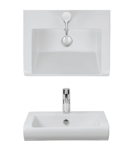 Crosswater Essence Vanity Basin 600 With Overflow ES0002SCW