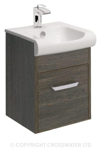 Crosswater Essence Drawer Vanity 40 Unit Ebony ES4000DEB